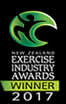 New Zealand Exercise Industry Awards Winner 2017